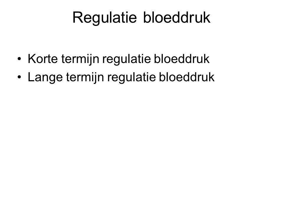 Regulatie bloeddruk Korte termijn regulatie bloeddruk