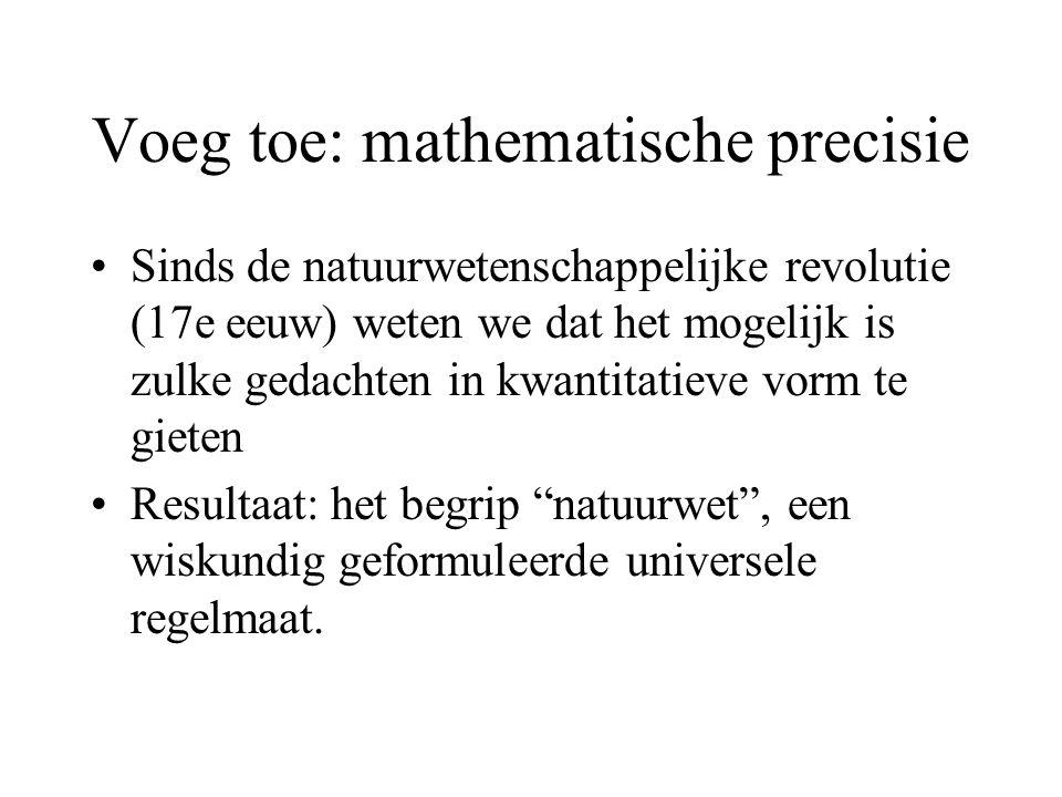 Voeg toe: mathematische precisie