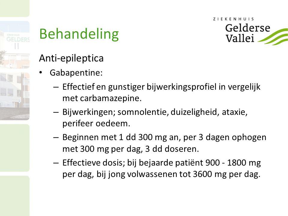 Behandeling Anti-epileptica Gabapentine: