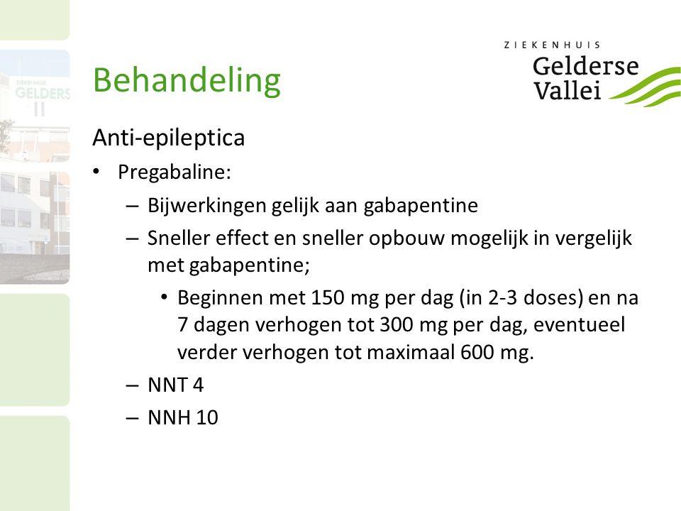 Behandeling Anti-epileptica Pregabaline: