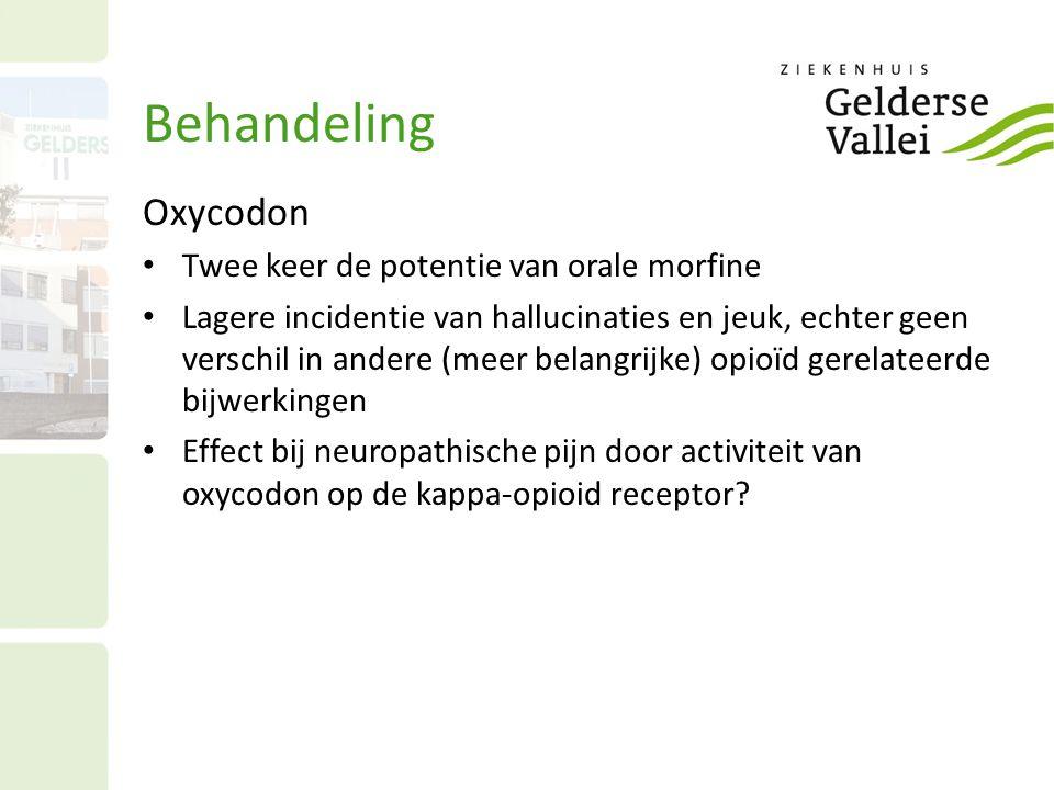 Behandeling Oxycodon Twee keer de potentie van orale morfine
