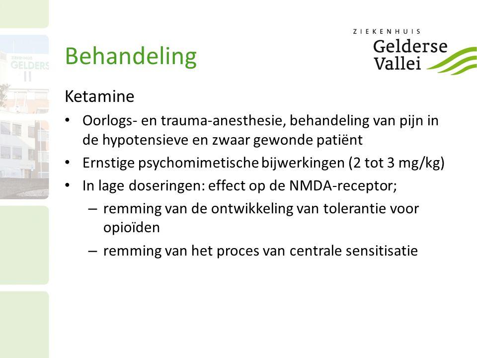 Behandeling Ketamine. Oorlogs- en trauma-anesthesie, behandeling van pijn in de hypotensieve en zwaar gewonde patiënt.