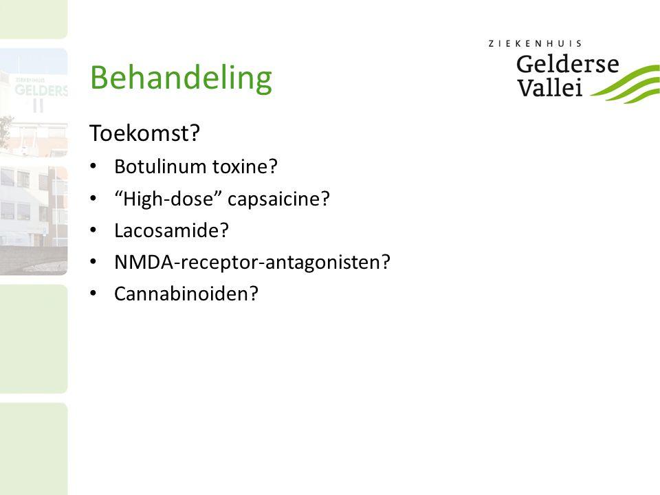 Behandeling Toekomst Botulinum toxine High-dose capsaicine