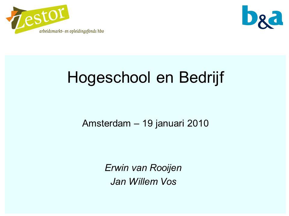 Hogeschool en Bedrijf Amsterdam – 19 januari 2010