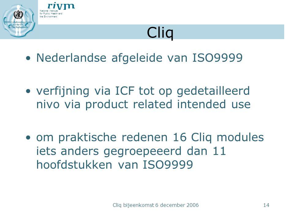 Cliq bijeenkomst 6 december 2006
