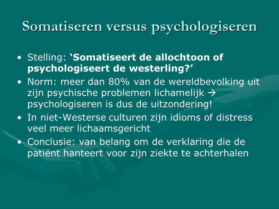 Somatiseren versus psychologiseren