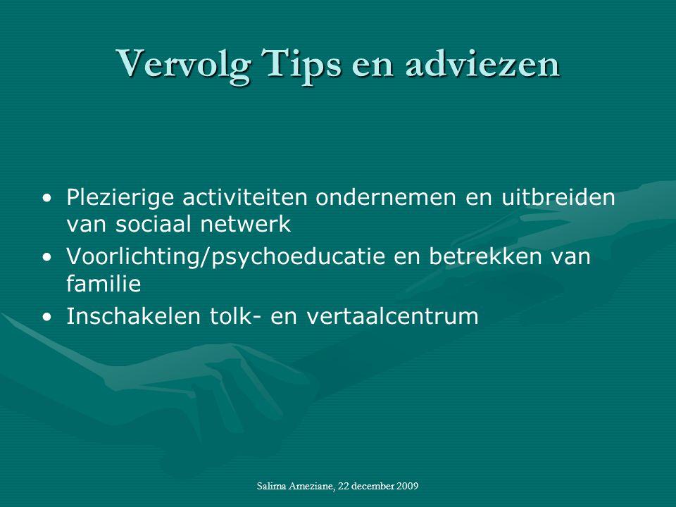 Vervolg Tips en adviezen