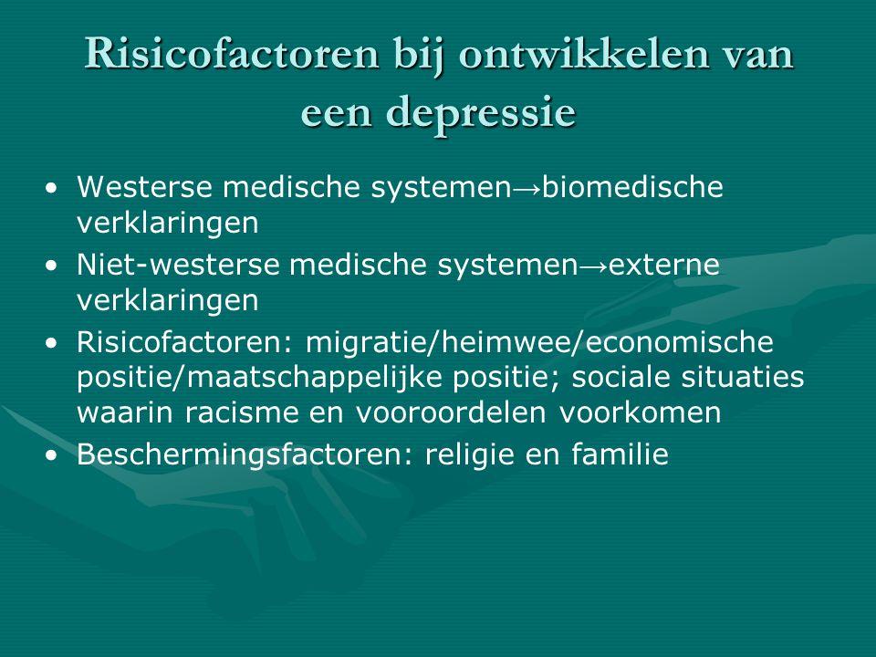 Risicofactoren bij ontwikkelen van een depressie