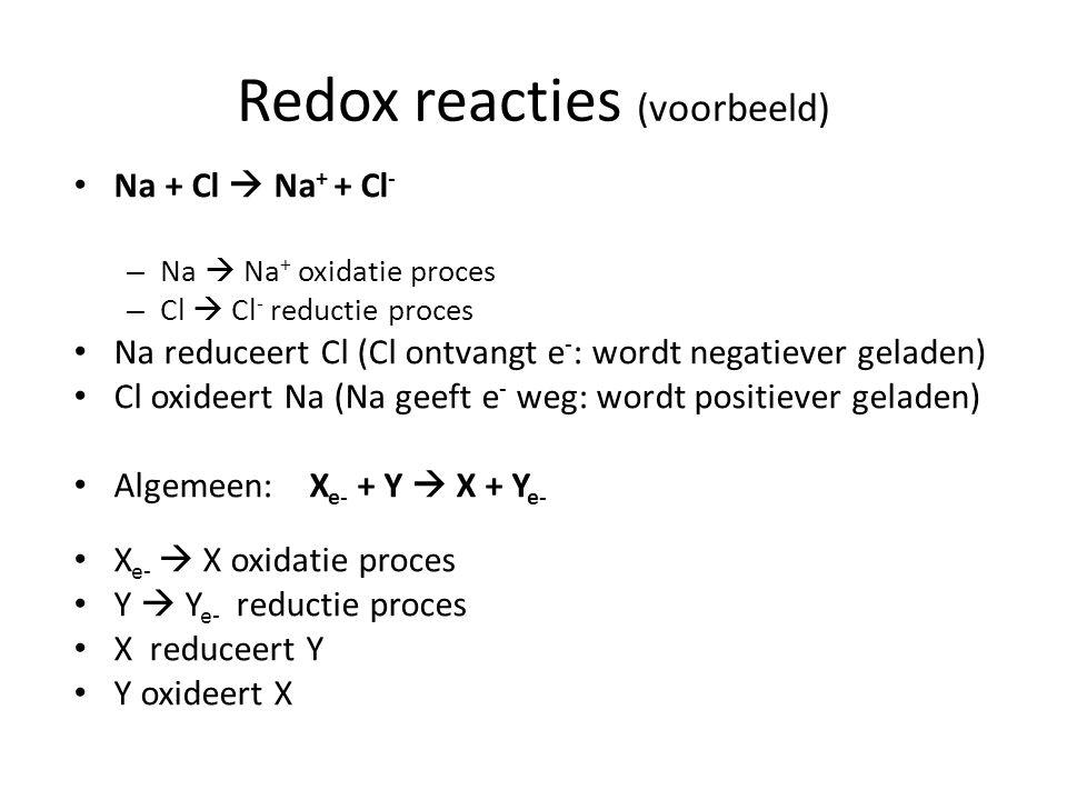Redox reacties (voorbeeld)
