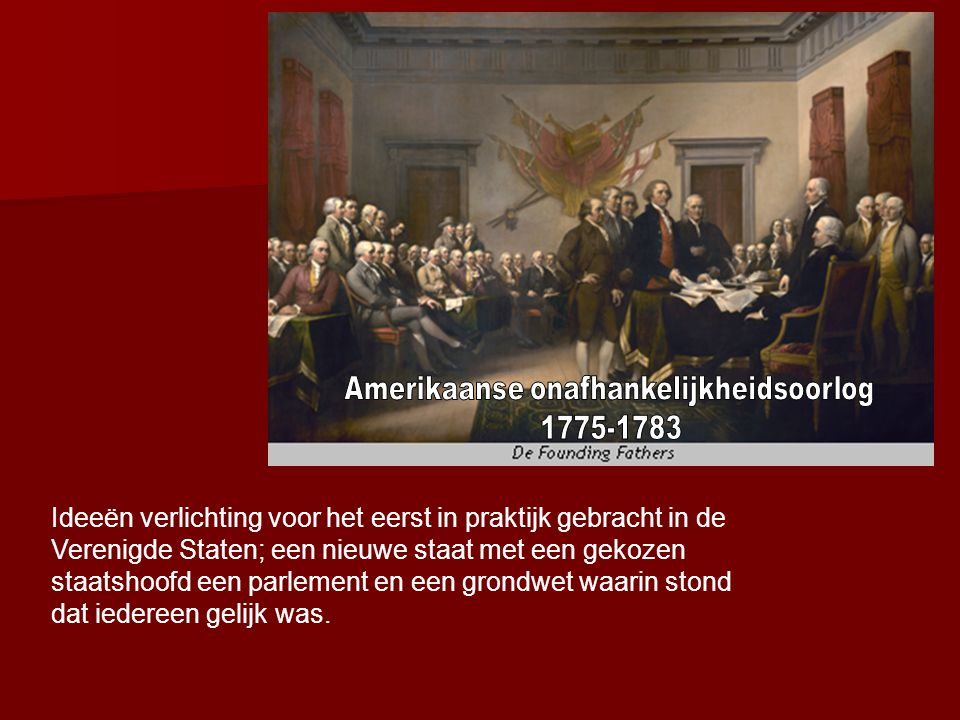 Amerikaanse onafhankelijkheidsoorlog