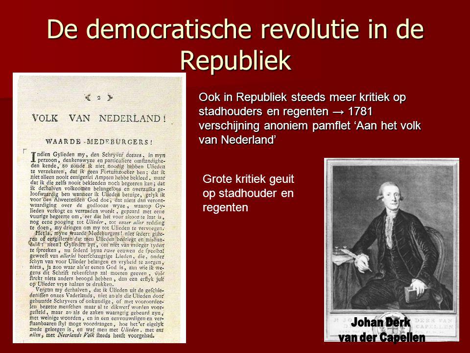 De democratische revolutie in de Republiek