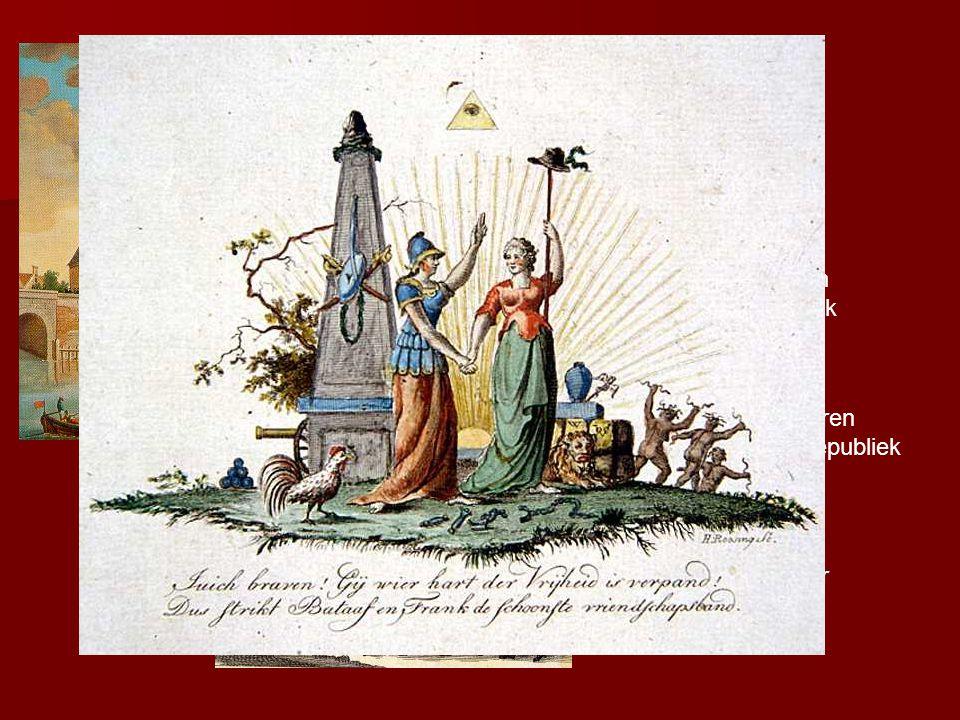 Pruisische troepen herstellen de orde in 1787→ veel patriotten vluchten naar Frankrijk