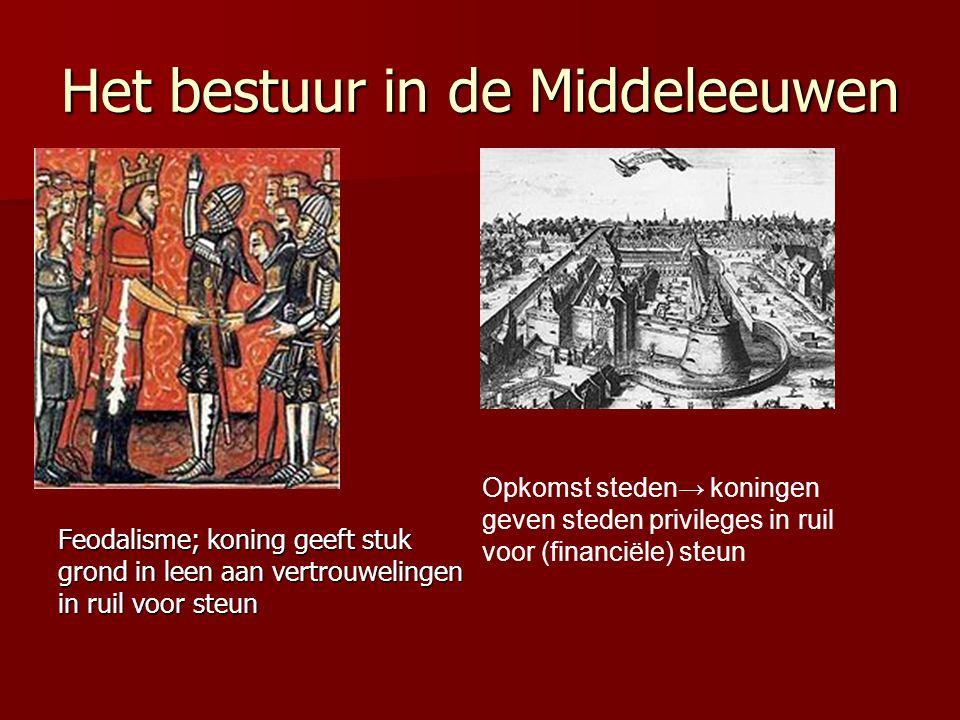 Het bestuur in de Middeleeuwen