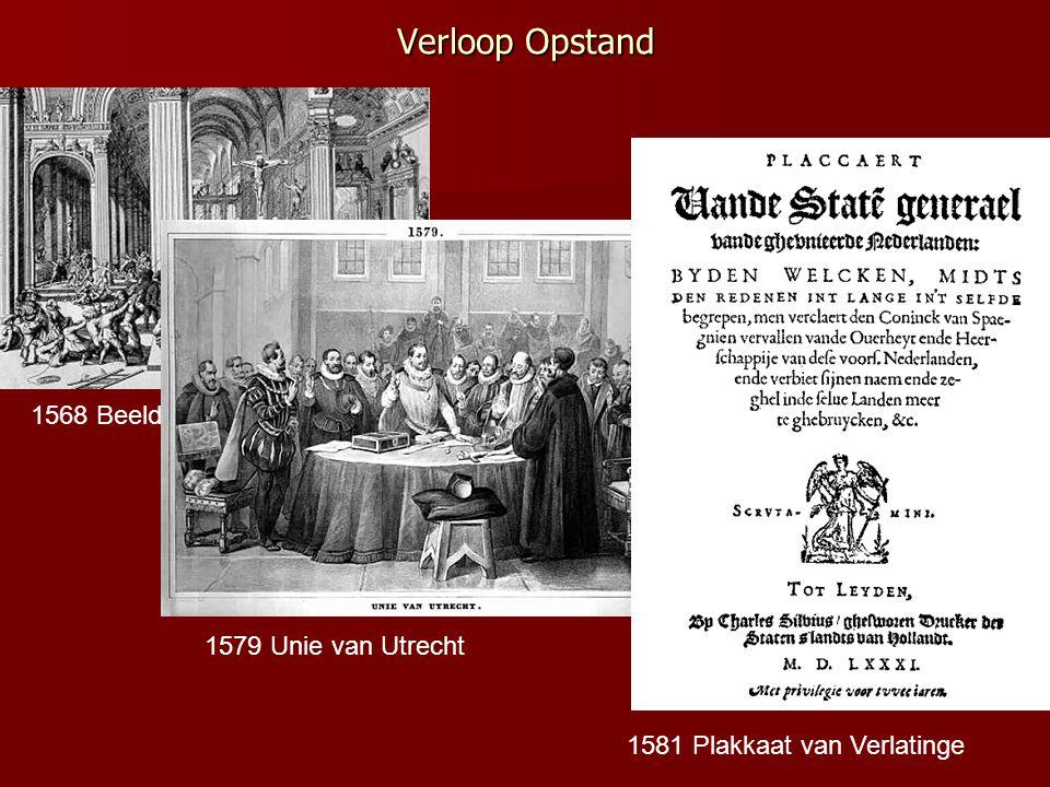 Verloop Opstand 1568 Beeldenstorm 1579 Unie van Utrecht