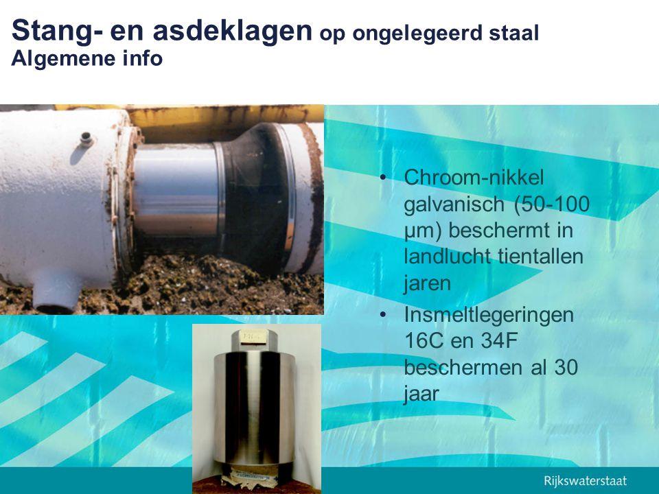 Stang- en asdeklagen op ongelegeerd staal Algemene info