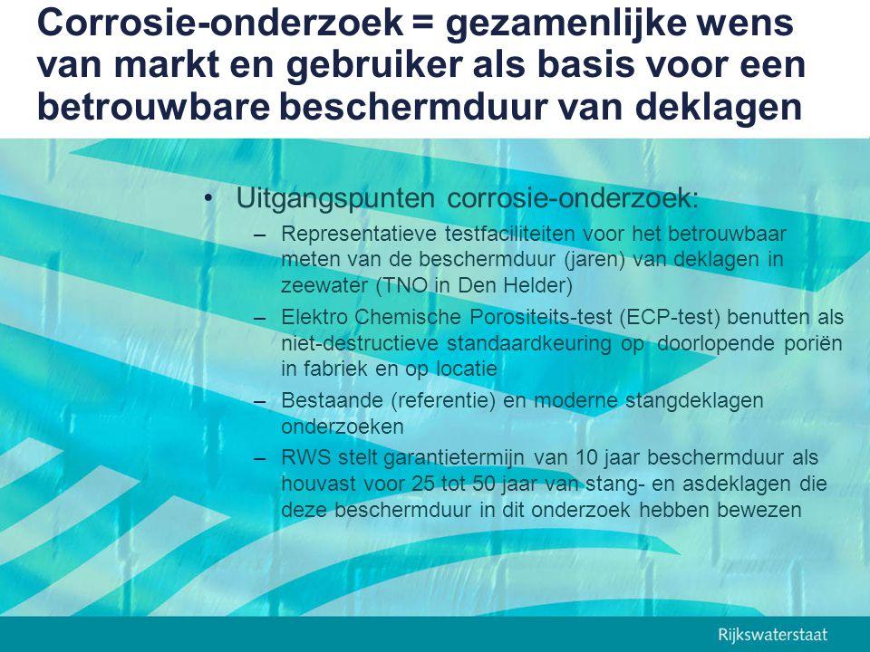Corrosie-onderzoek = gezamenlijke wens van markt en gebruiker als basis voor een betrouwbare beschermduur van deklagen