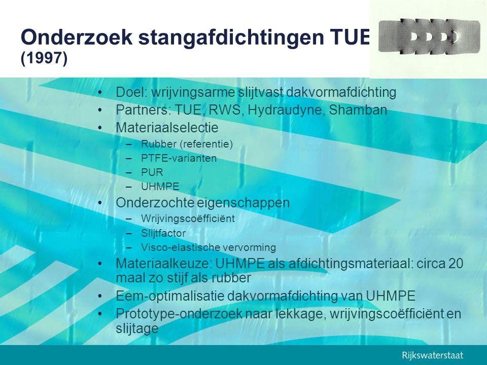 Onderzoek stangafdichtingen TUE (1997)