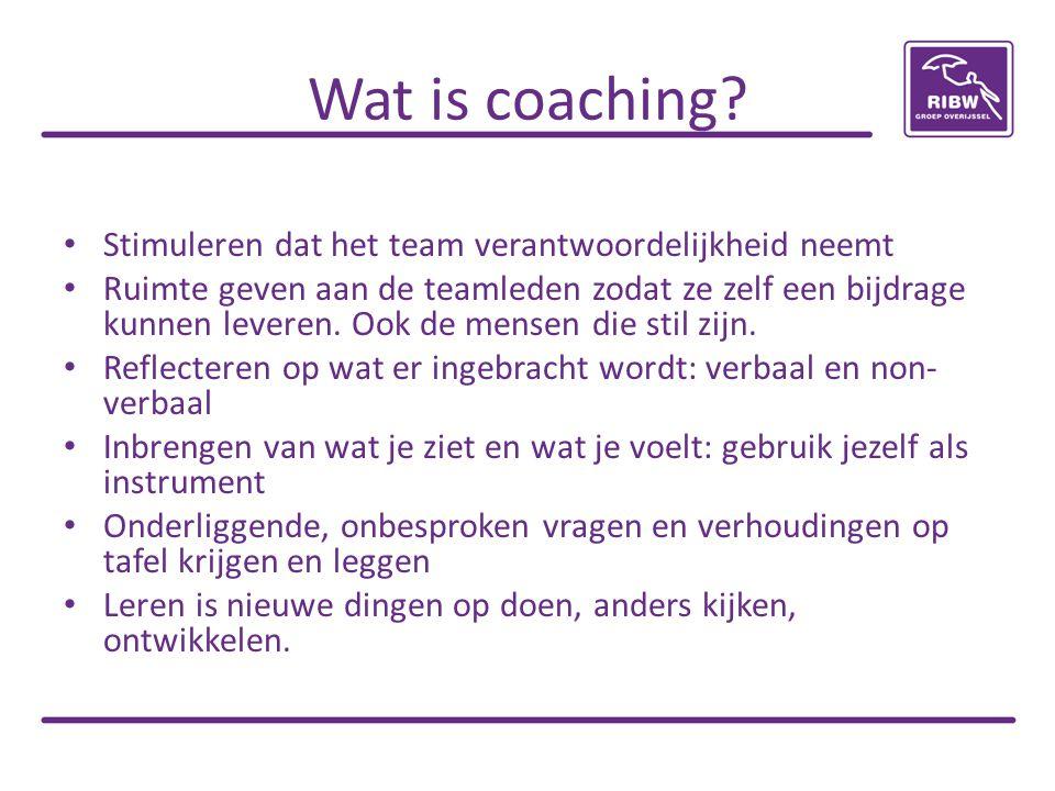 Wat is coaching Stimuleren dat het team verantwoordelijkheid neemt