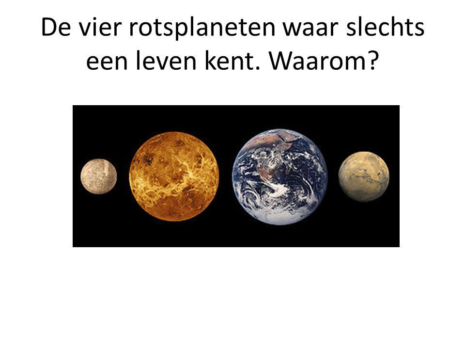 De vier rotsplaneten waar slechts een leven kent. Waarom