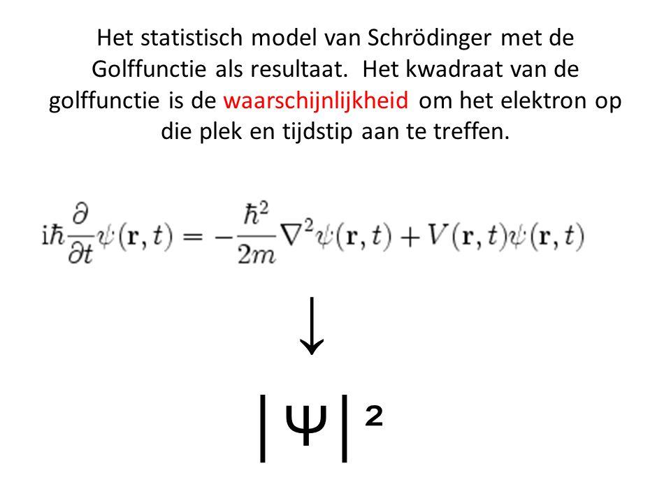 Het statistisch model van Schrödinger met de Golffunctie als resultaat