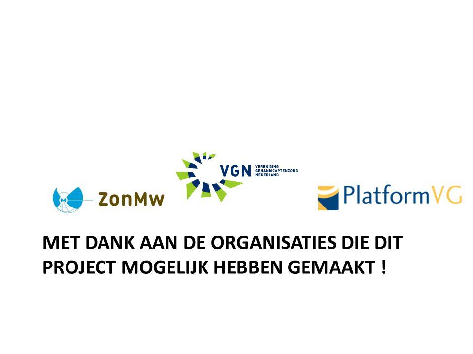 Met dank aan de organisaties die dit project mogelijk hebben gemaakt !