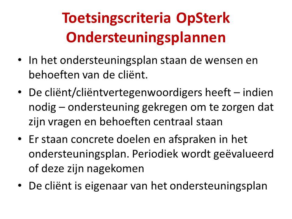 Toetsingscriteria OpSterk Ondersteuningsplannen
