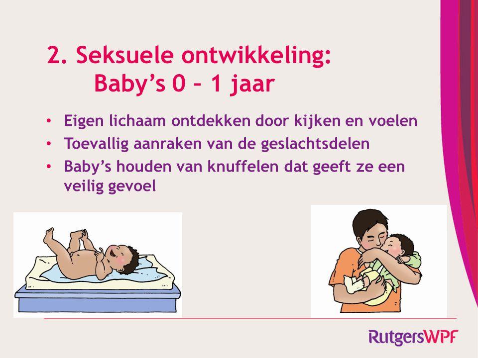 2. Seksuele ontwikkeling: Baby's 0 – 1 jaar