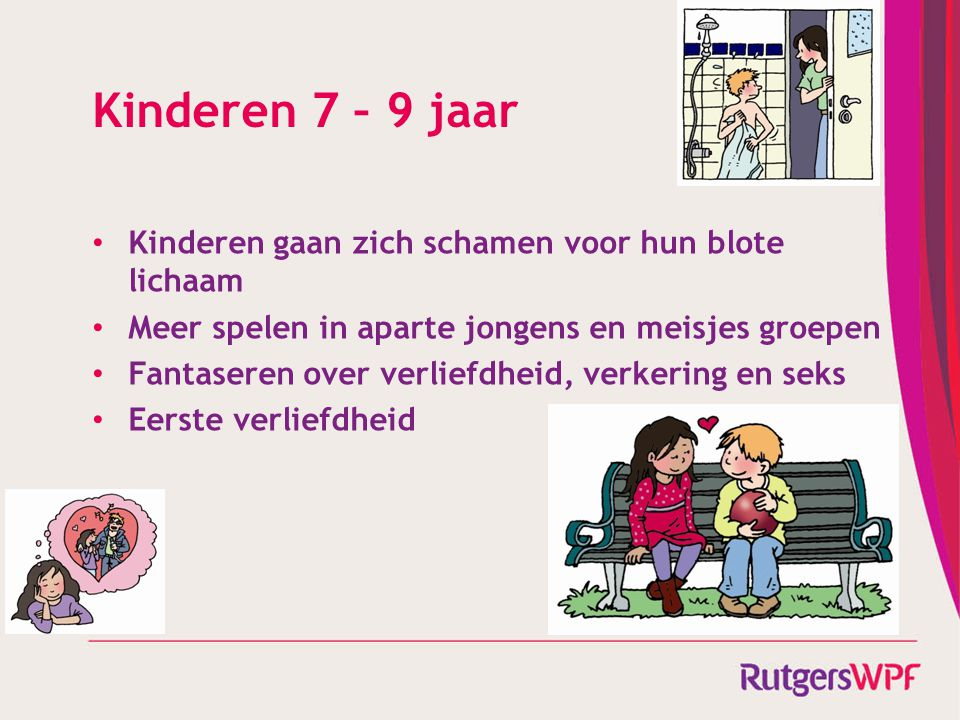 Kinderen 7 – 9 jaar Kinderen gaan zich schamen voor hun blote lichaam