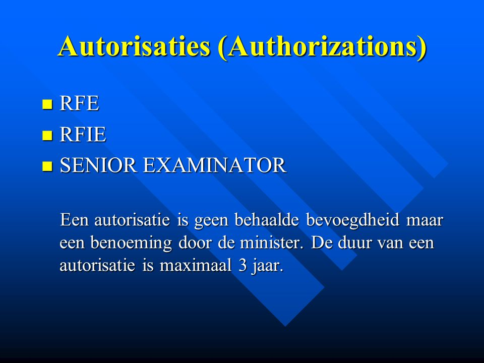 Autorisaties (Authorizations)