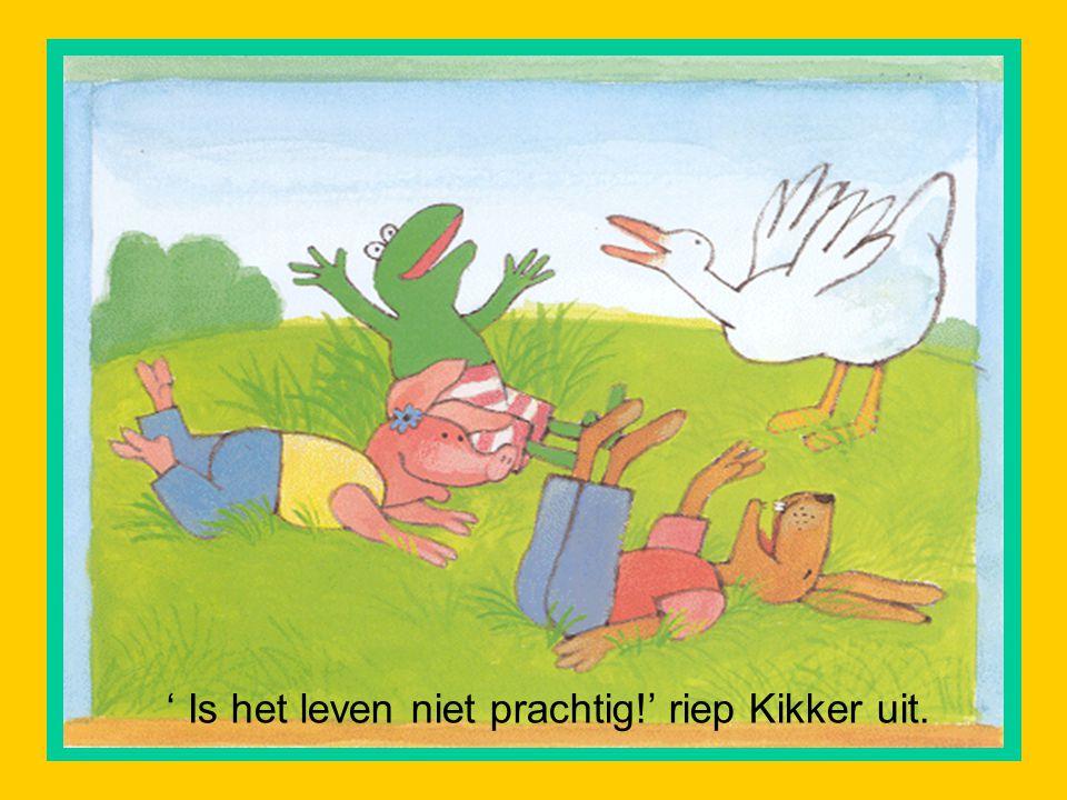 ' Is het leven niet prachtig!' riep Kikker uit.