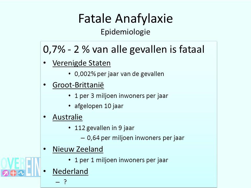 Fatale Anafylaxie Epidemiologie