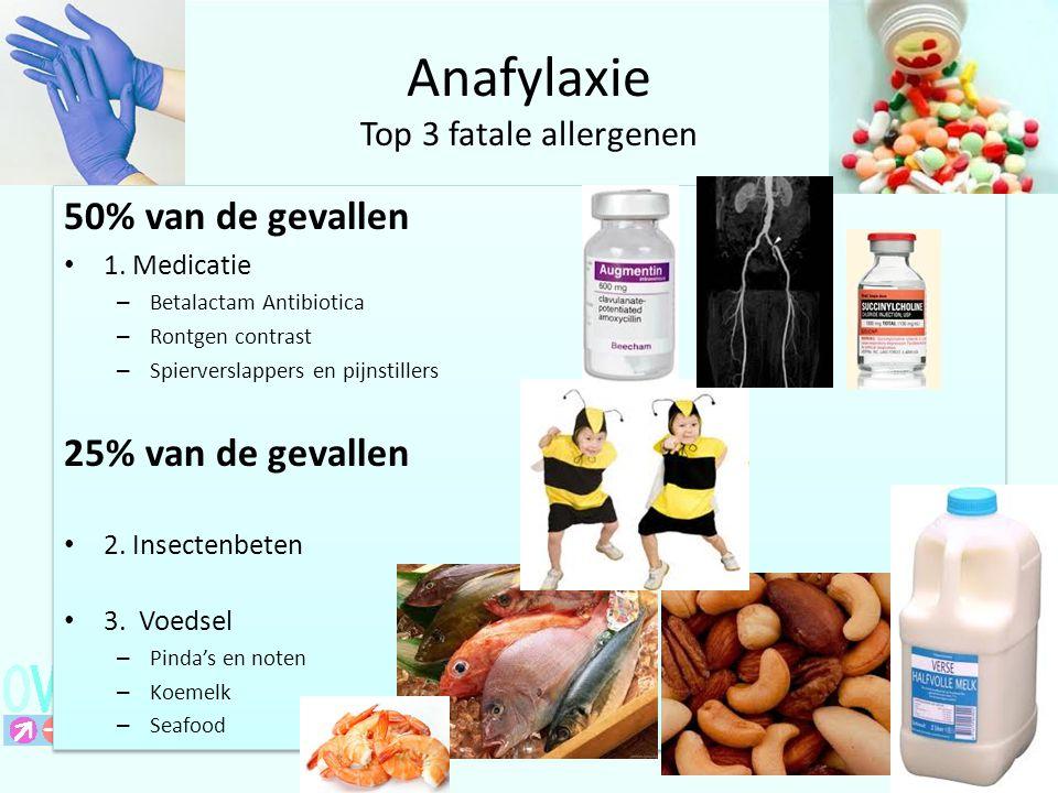 Anafylaxie Top 3 fatale allergenen
