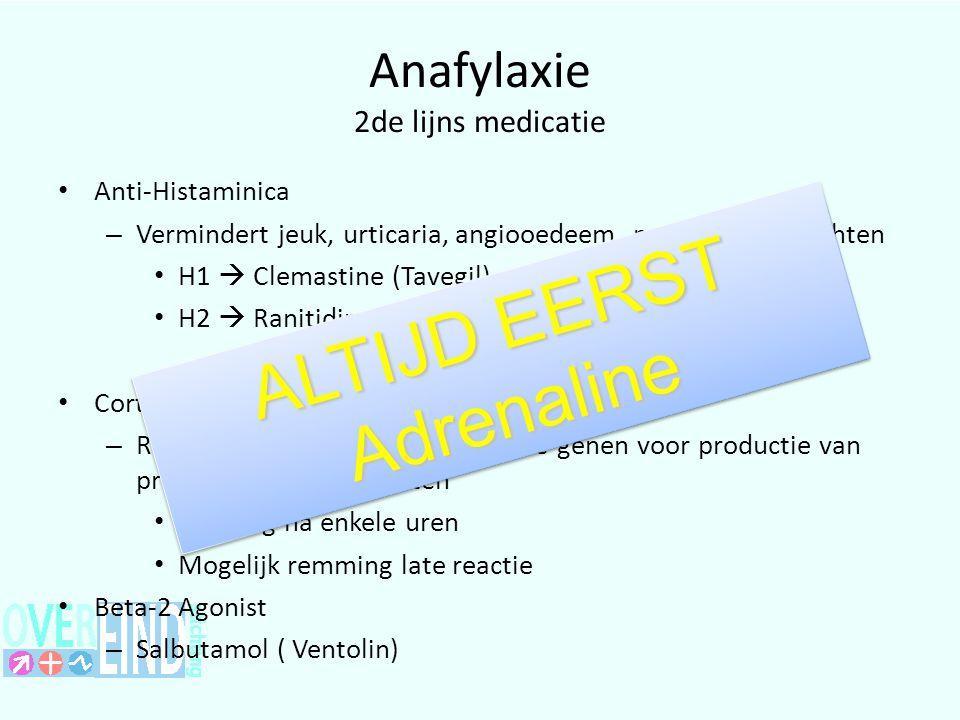 Anafylaxie 2de lijns medicatie