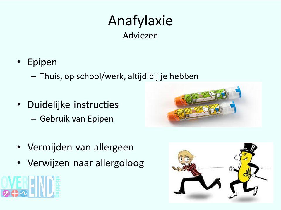 Anafylaxie Adviezen Epipen Duidelijke instructies