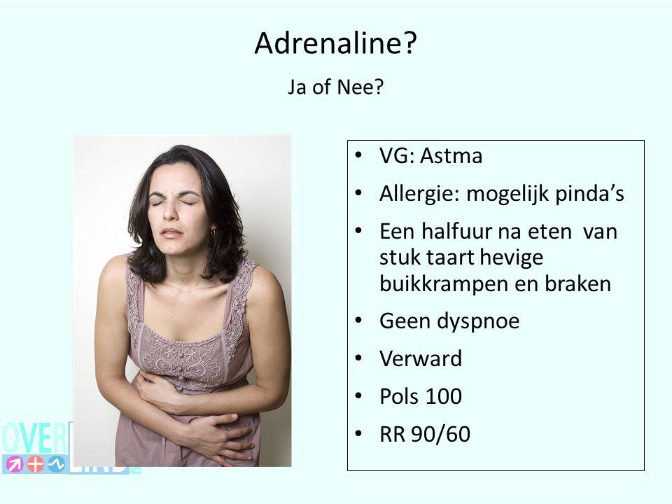 Adrenaline Ja of Nee VG: Astma Allergie: mogelijk pinda's