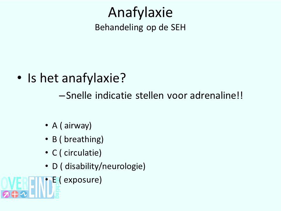 Anafylaxie Behandeling op de SEH