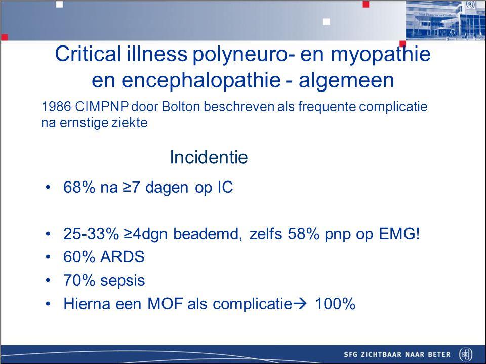 Critical illness polyneuro- en myopathie en encephalopathie - algemeen
