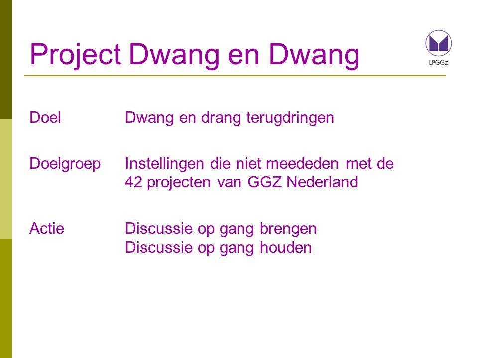 Project Dwang en Dwang Doel Dwang en drang terugdringen