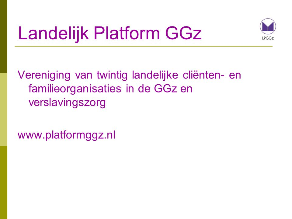 Landelijk Platform GGz