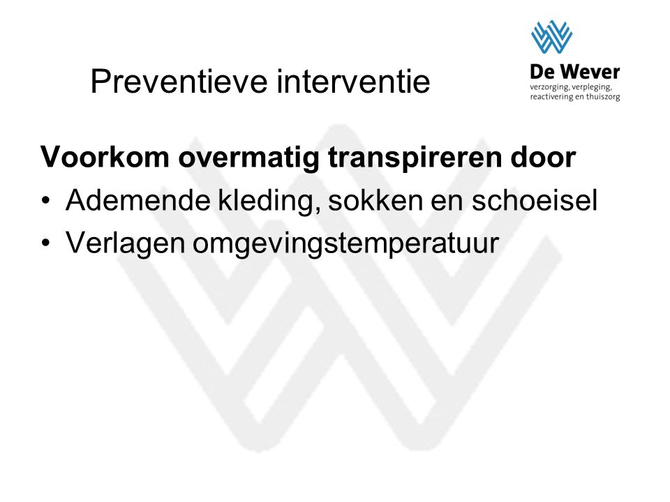 Preventieve interventie
