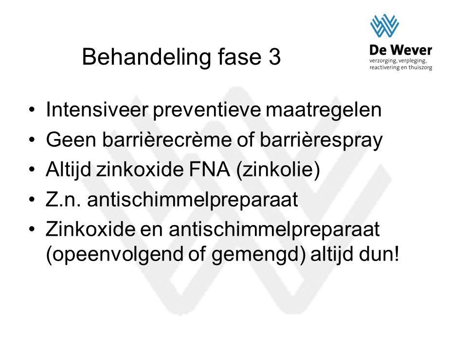 Behandeling fase 3 Intensiveer preventieve maatregelen