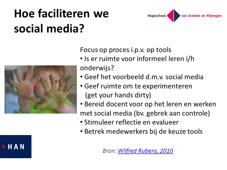 Hoe faciliteren we social media