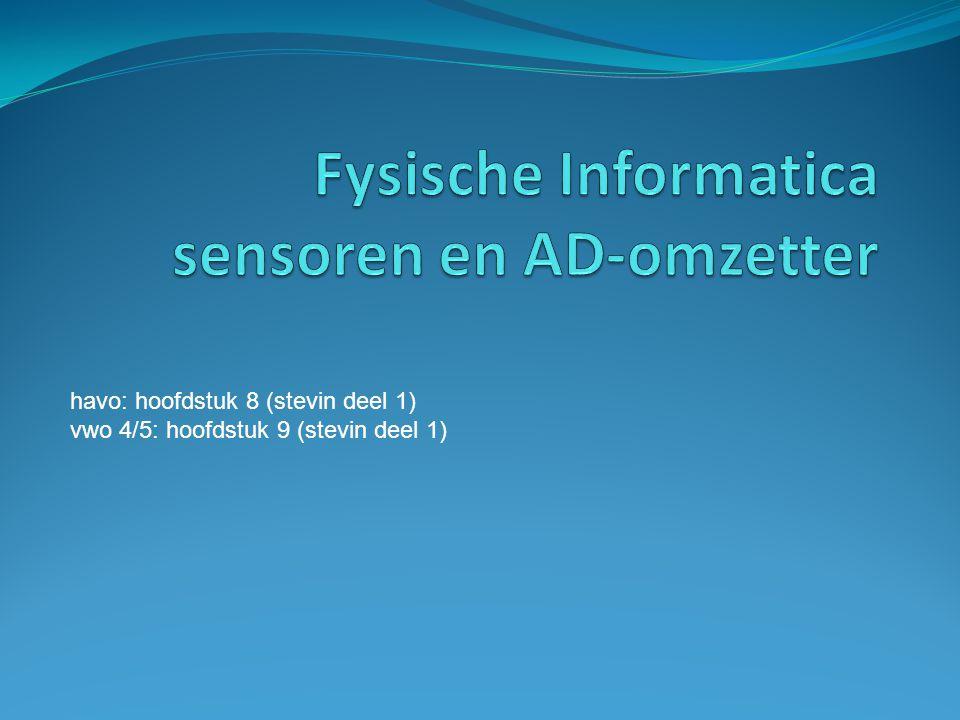 Fysische Informatica sensoren en AD-omzetter