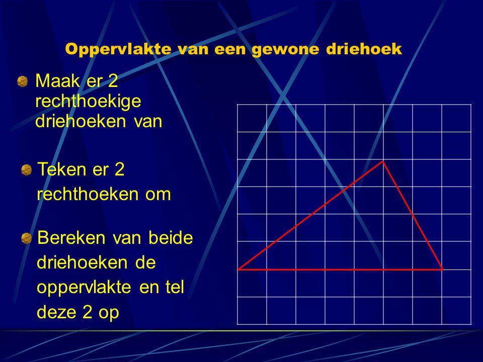 Oppervlakte van een gewone driehoek