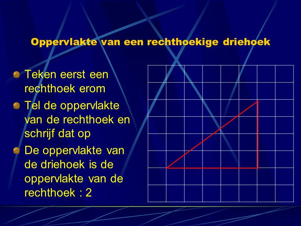 Oppervlakte van een rechthoekige driehoek