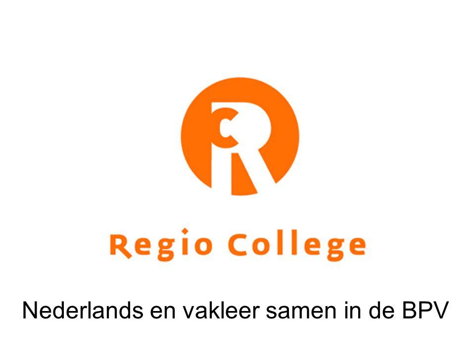 Nederlands en vakleer samen in de BPV