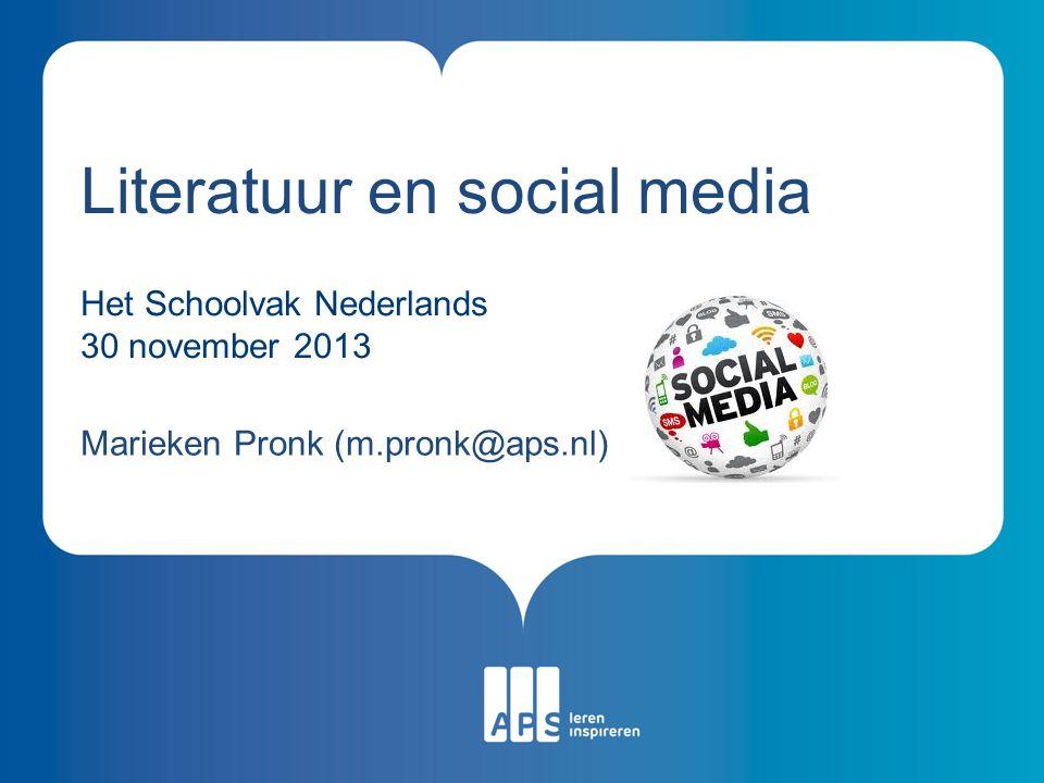 Literatuur en social media