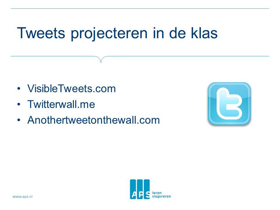 Tweets projecteren in de klas