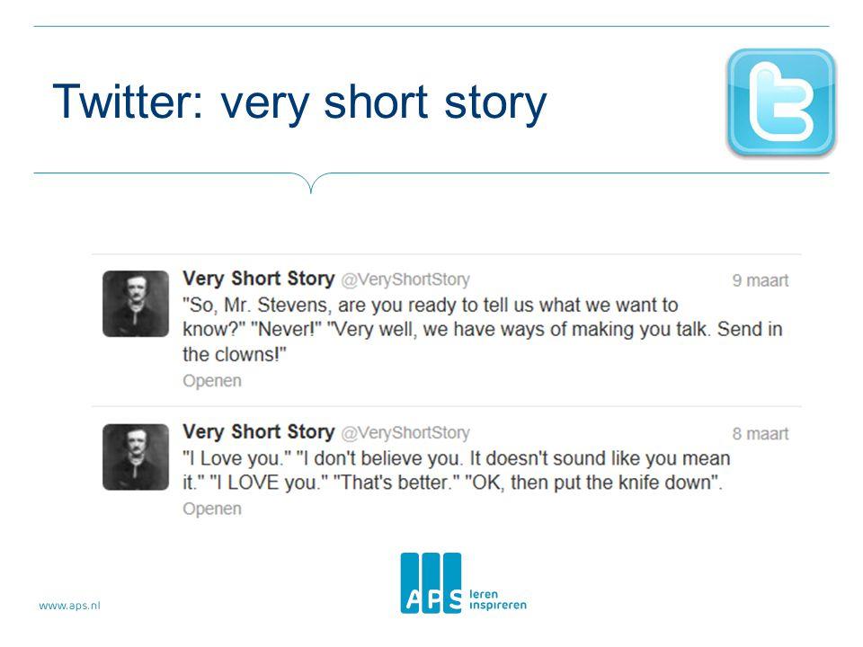 Twitter: very short story