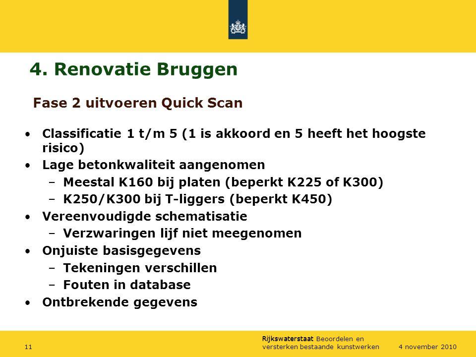 4. Renovatie Bruggen Fase 2 uitvoeren Quick Scan